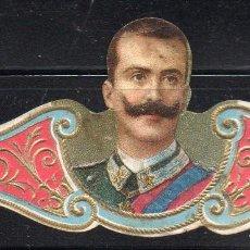 Vitolas de colección: VITOLA CLASICA: 161023, CASAS REALES, REY VICTOR MANUEL DE ITALIA. Lote 194197606