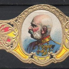 Vitolas de colección: VITOLA CLASICA: 161030, CASAS REALES, REY FRANCISCO JOSE DE AUSTRIA, TALON 9099. Lote 194197866