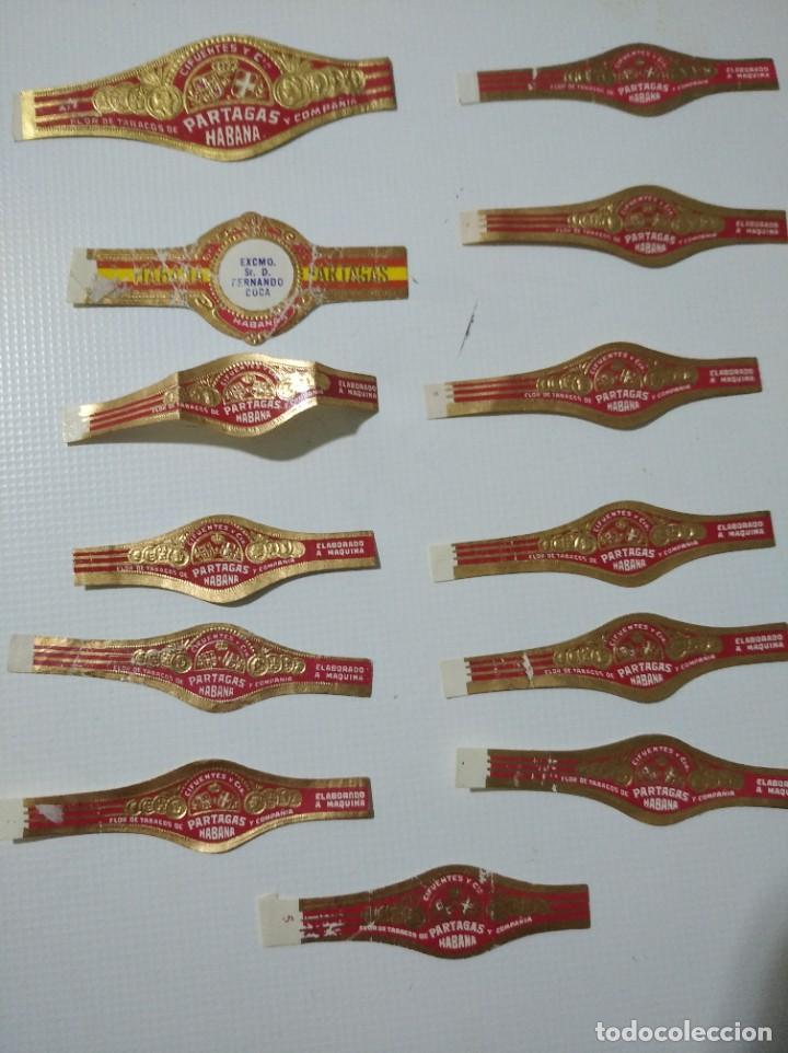 LOTE DE 13 ANTIGUAS VITOLAS CLÁSICAS DE LA HABANA PARTAGAS (Coleccionismo - Objetos para Fumar - Vitolas)