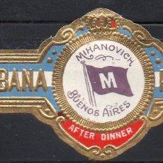 Vitolas de colección: VITOLA CLASICA: 1AA013, TEMA BANDERAS, MIHANOVICH, AFTER DINNER, PARTAGAS, CUBA. Lote 194282236