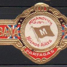 Vitolas de colección: VITOLA CLASICA: 1AA012, TEMA BANDERAS, MIHANOVICH, PARTAGAS, CUBA. Lote 194282275