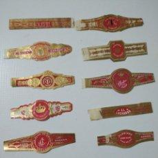 Vitolas de colección: LOTE DE 12 ANTIGUAS VITOLAS CLÁSICAS LA HABANA. Lote 194347535