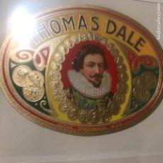 Vitolas de colección: VITOLA THOMAS DALE. Lote 194490022