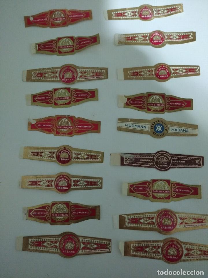 LOTE DE 18 ANTIGUAS VITOLAS CLÁSICAS DE LA HABANA,R.UPMANN (Coleccionismo - Objetos para Fumar - Vitolas)