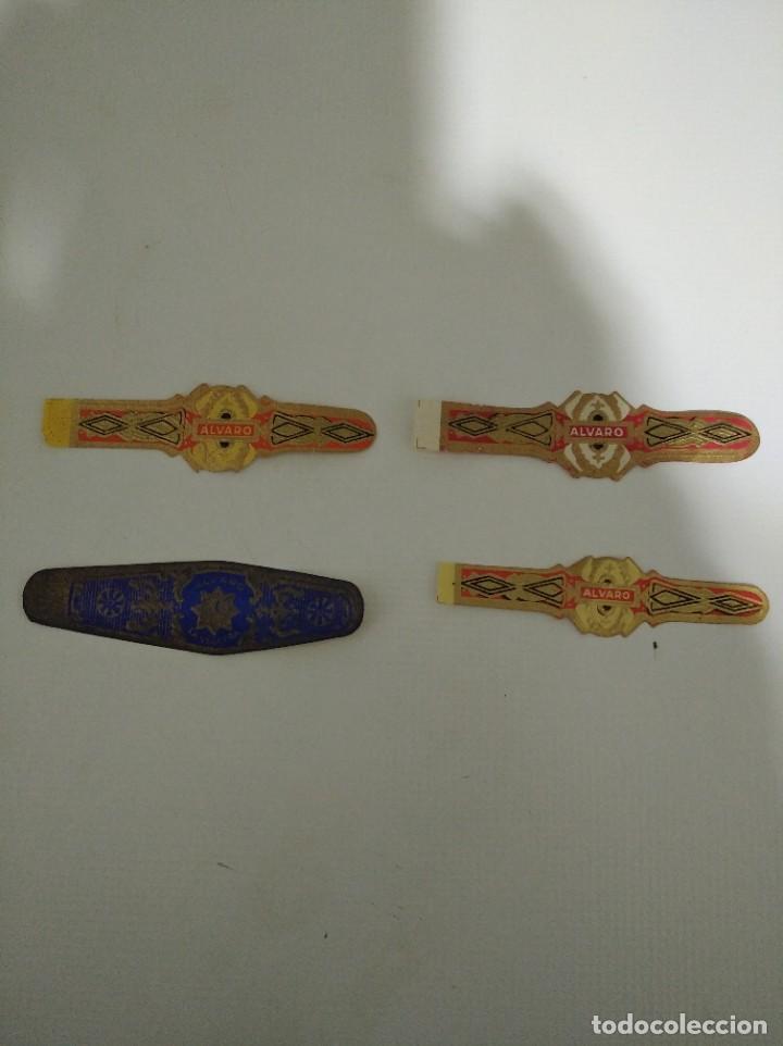 LOTE DE 4 ANTIGUAS VITOLAS CLÁSICAS ALVARO (Coleccionismo - Objetos para Fumar - Vitolas)