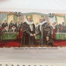 Vitolas de colección: VITOLA SENATORENWAHL. Lote 194589807