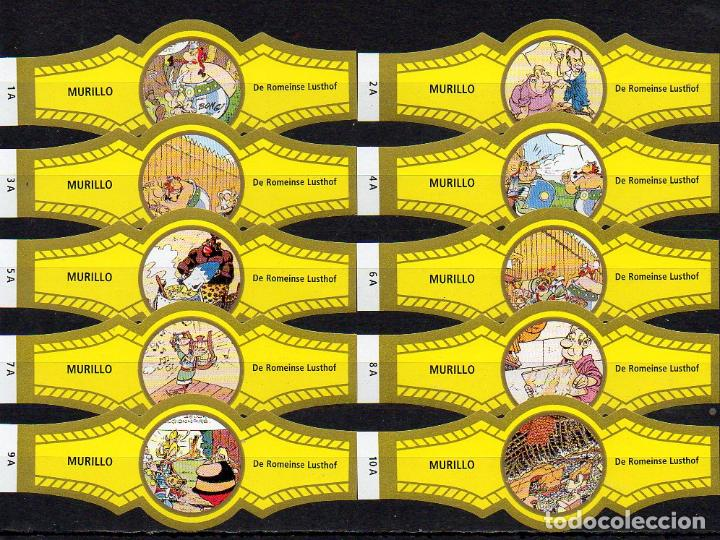 MURILLO, ASTERIX, SERIE A, AMARILLO/ORO, 10 VITOLAS, SERIE COMPLETA. (Coleccionismo - Objetos para Fumar - Vitolas)