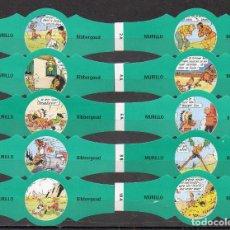Vitolas de colección: MURILLO, BIBBERGOUD, SERIE A, VERDE S/G. 10 VITOLAS, SERIE COMPLETA.. Lote 194722373