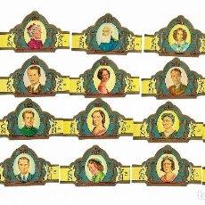 Vitolas de colección: DON DIAZ - SERIE DINASTIA Y REYES DE BELGICA - SERIE COMPLETA 20 VITOLAS. Lote 194732431