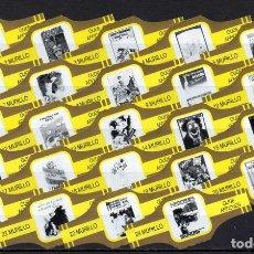 Vitolas de colección: MURILLO, CARTELES ANTIGUOS, AMARILLO/ORO, 24 VITOLAS, SERIE COMPLETA.. Lote 194782868