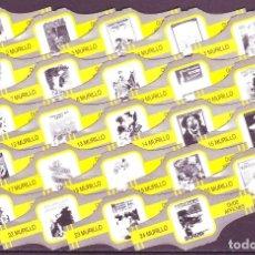 Vitolas de colección: MURILLO, CARTELES ANTIGUOS, AMARILLO/PLATA, 24 VITOLAS, SERIE COMPLETA.. Lote 194782876