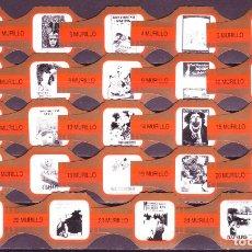 Vitolas de colección: MURILLO, CARTELES ANTIGUOS, NARANJA/ORO, 24 VITOLAS, SERIE COMPLETA.. Lote 194782962