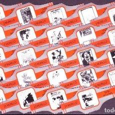Vitolas de colección: MURILLO, CARTELES ANTIGUOS, NARANJA/PLATA, 24 VITOLAS, SERIE COMPLETA.. Lote 194782982