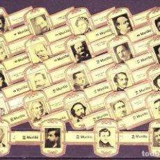 Vitolas de colección: MURILLO, COMPOSITORES, AMARILLO, 24 VITOLAS, SERIE COMPLETA.. Lote 194783040