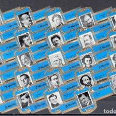Vitolas de colección: MURILLO, COMPOSITORES, AZUL, 24 VITOLAS, SERIE COMPLETA.. Lote 194783057