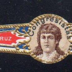 Vitolas de colección: VITOLA CLASICA: 1AA033, MUJERES MEXICO, CONGRESISTAS, MADRAZO Y CORRALES, MEXICO. Lote 194783590
