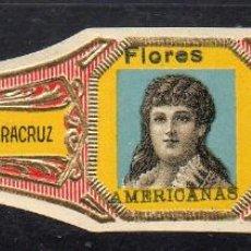 Vitolas de colección: VITOLA CLASICA: 1AA036, MUJERES MEXICO, FLORES AMERICANAS, ANDRES CORRALES, MEXICO. Lote 194783671