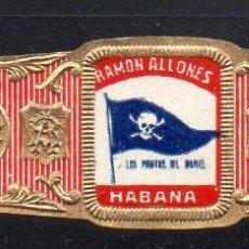 Vitolas de colección: VITOLA CLASICA: 1AA037, TEMA BANDERAS, RAMON ALLONES, CUBA. Lote 194783690