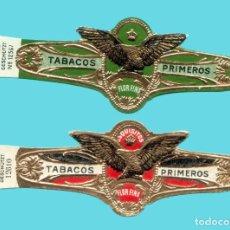 Vitolas de colección: 2 VITOLAS ANTIGUAS - SIN MARCA - LITOGRAFÍA EUROPEA - TEMÁTICA ÁGUILAS. Lote 194973061