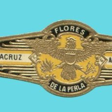 Vitolas de colección: VITOLA ANTIGUA - MARCA LA PERLA - ANDRÉS CORRALES (MÉXICO) - TEMÁTICA ÁGUILAS. Lote 194973427