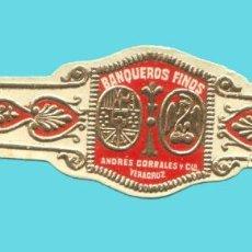 Vitolas de colección: VITOLA ANTIGUA - MARCA ANDRES CORRALES Y CIA. (MÉXICO) - TEMÁTICA ÁGUILAS. Lote 194973488