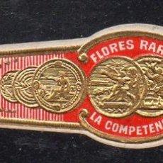 Vitolas de colección: VITOLA CLASICA: 153010, MONEDAS, FLORES RARAS, LA COMPETENCIA. MEXICO. Lote 195003965