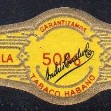 Vitolas de colección: VITOLA CLASICA: 153015, 50 %, LA PERLA, ANDRES CORRALES, MEXICO. Lote 195004021
