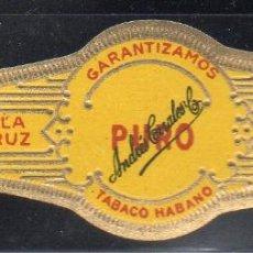 Vitolas de colección: VITOLA CLASICA: 153018, PURO, LA PERLA, ANDRES CORRALES, MEXICO. Lote 195004082