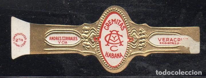 VITOLA CLASICA: 153024, CREMITAS, ANDRES CORRALES, MEXICO (Coleccionismo - Objetos para Fumar - Vitolas)