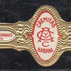 Vitolas de colección: VITOLA CLASICA: 153024, CREMITAS, ANDRES CORRALES, MEXICO. Lote 195004128