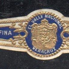 Vitolas de colección: VITOLA CLASICA: 153025, TEMA ESCUDOS, EL VALLE NACIONAL, VERACRUZ, MEXICO. Lote 195004165