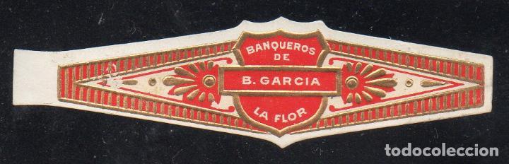 VITOLA CLASICA: 153026, BANQUEROS DE B. GARCIA, LA FLOR, MEXICO (Coleccionismo - Objetos para Fumar - Vitolas)