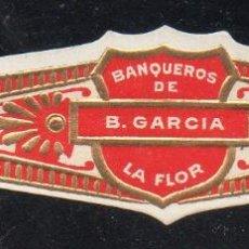 Vitolas de colección: VITOLA CLASICA: 153026, BANQUEROS DE B. GARCIA, LA FLOR, MEXICO. Lote 195004205