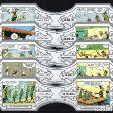 Vitolas de colección: MURILLO, LUCKY LUKE, SERIE G, BLANCO/PLATA, 10 VITOLAS, SERIE COMPLETA.. Lote 195080557