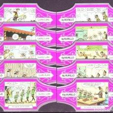 Vitolas de colección: MURILLO, LUCKY LUKE, SERIE G, FUXIA/PLATA, 10 VITOLAS, SERIE COMPLETA.. Lote 195080601