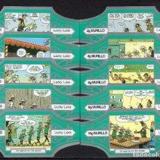 Vitolas de colección: MURILLO, LUCKY LUKE, SERIE G, VERDE/PLATA, 10 VITOLAS, SERIE COMPLETA.. Lote 195080607