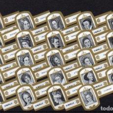 Vitolas de colección: MURILLO, MUJERES EN LA HISTORIA, BLANCO/ORO, 24 VITOLAS, SERIE COMPLETA.. Lote 195080761