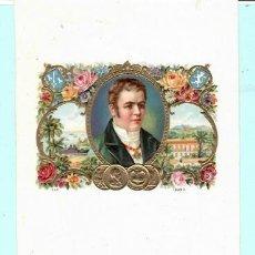 Vitolas de colección: LITOGRAFÍA DE CAJA PUROS. Lote 195163772