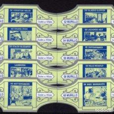 Vitolas de colección: MURILLO, SUSKE Y WISKE, SERIE 6, VERDE/PLATA, 10 VITOLAS, SERIE COMPLETA.. Lote 195190118