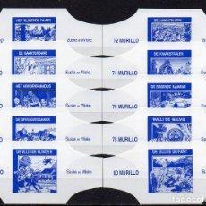 Vitolas de colección: MURILLO, SUSKE Y WISKE, SERIE 8, BLANCO S/G. 10 VITOLAS, SERIE COMPLETA.. Lote 195190128
