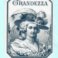 Vitolas de colección: LITOGRAFIAS DE LA CASA GRANDEZZA. Lote 195238162