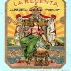 Vitolas de colección: LITOGRAFIAS DE LA CASA LA REGENTA RELIEVE. Lote 195238326