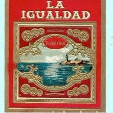 Vitolas de colección: CINCO LITOGRAFIAS DE CASA LA IGUALDAD . Lote 195296571
