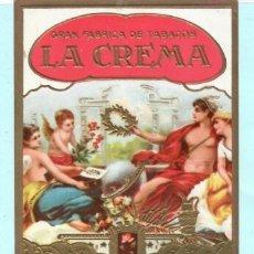 Vitolas de colección: TRES LITOGRAFIAS DE CASA LA CREMA . Lote 195297832