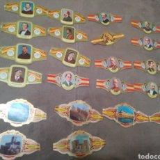 Vitolas de colección: 22 VITOLAS DE 3 SERIES DIFERENTES,DE LA MARCA ÁLVARO. Lote 195334447