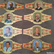 Vitolas de colección: 8 VITOLAS ALVARADO DE LA SERIE PREMIOS NOBEL MEDICINA Y FISIOLOGÍA. Lote 195334762