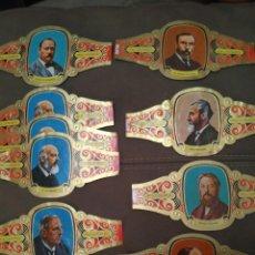 Vitolas de colección: 45 VITOLAS ALVARADO DE LA SERIE PREMIOS NOBEL QUÍMICA. Lote 195336356
