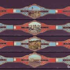 Vitolas de colección: NIC, EL LITORAL BELGA, 12 VITOLAS, SERIE COMPLETA.. Lote 195388503