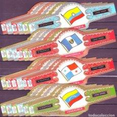 Vitolas de colección: LOPEZ GOMEZ, BANDERAS DE AMERICA, 24 VITOLINAS, SERIE COMPLETA.. Lote 195389652