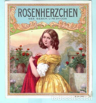 LITOGRAFÍA DE CASA ROSEMHERZCHEN (Coleccionismo - Objetos para Fumar - Vitolas)